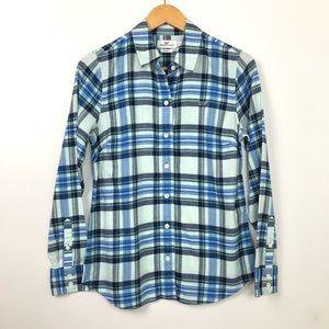Vineyard Vines Flannel Button Down Shirt Size 2
